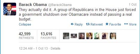 obama tweeted